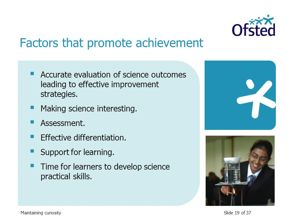 Factors that promote achievement