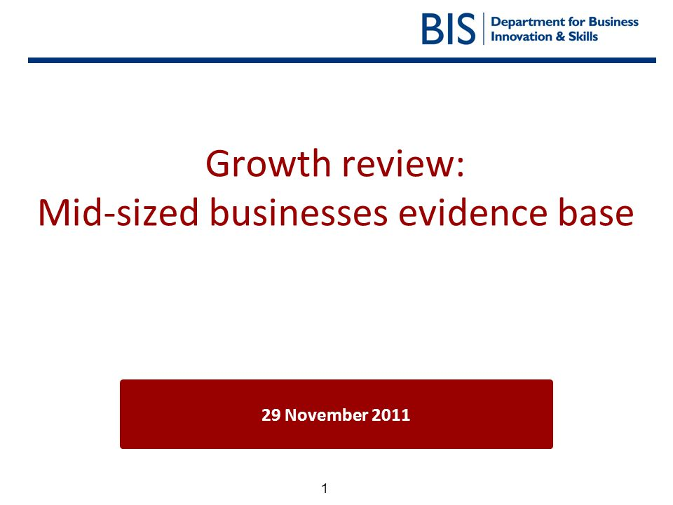 Growth review: Mid-sized businesses evidence base