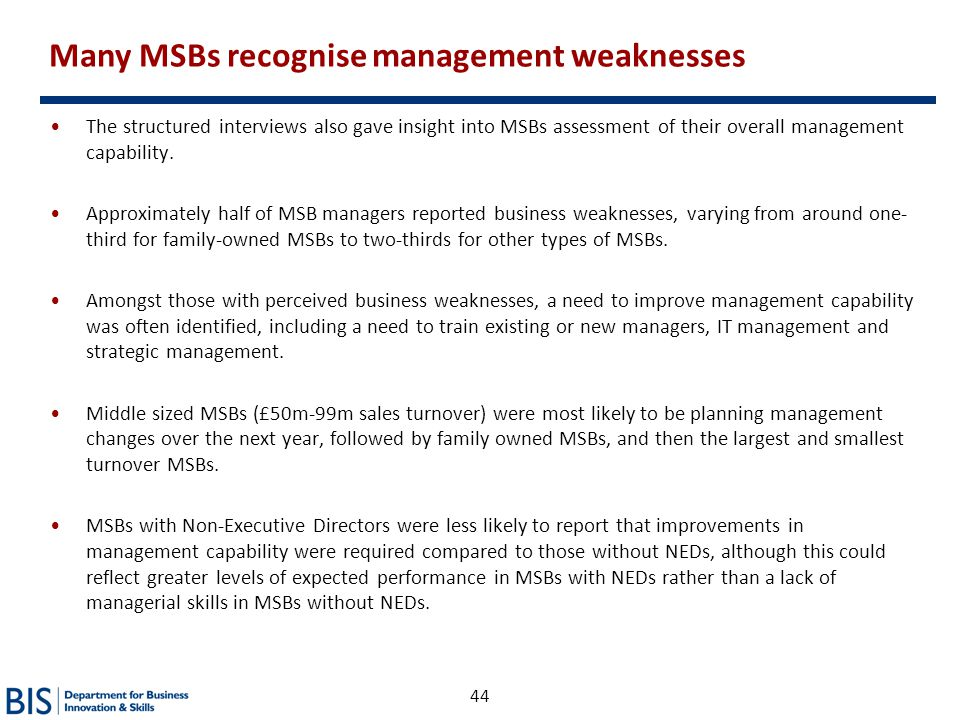 Many MSBs recognise management weaknesses