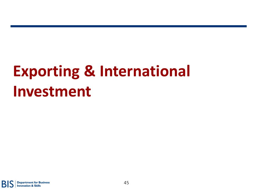 Exporting & International Investment
