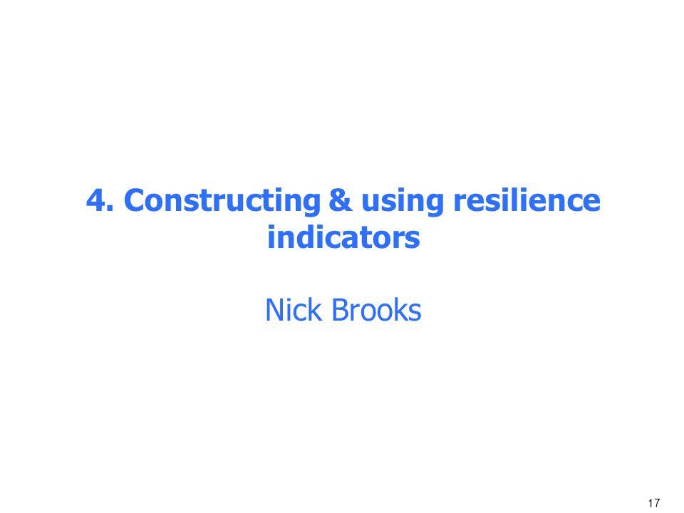4. Constructing & using resilience indicators