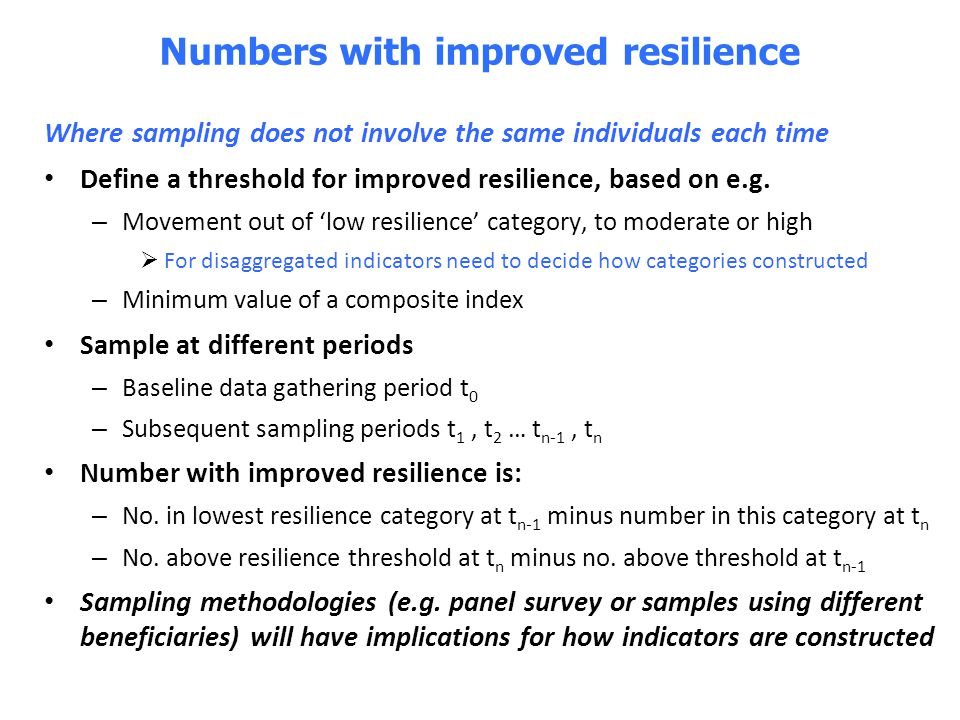 Numbers with improved resilience