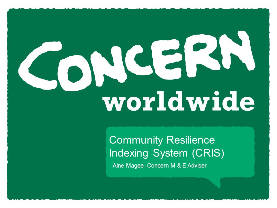 Community Resilience Indexing System (CRIS)
