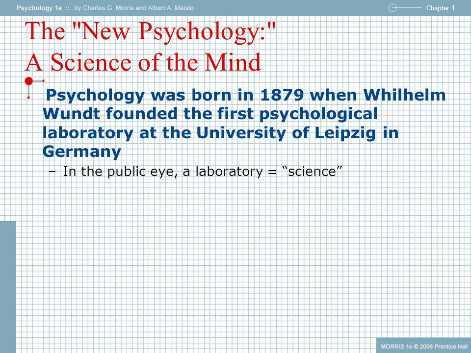 The New Psychology: A Science of the Mind