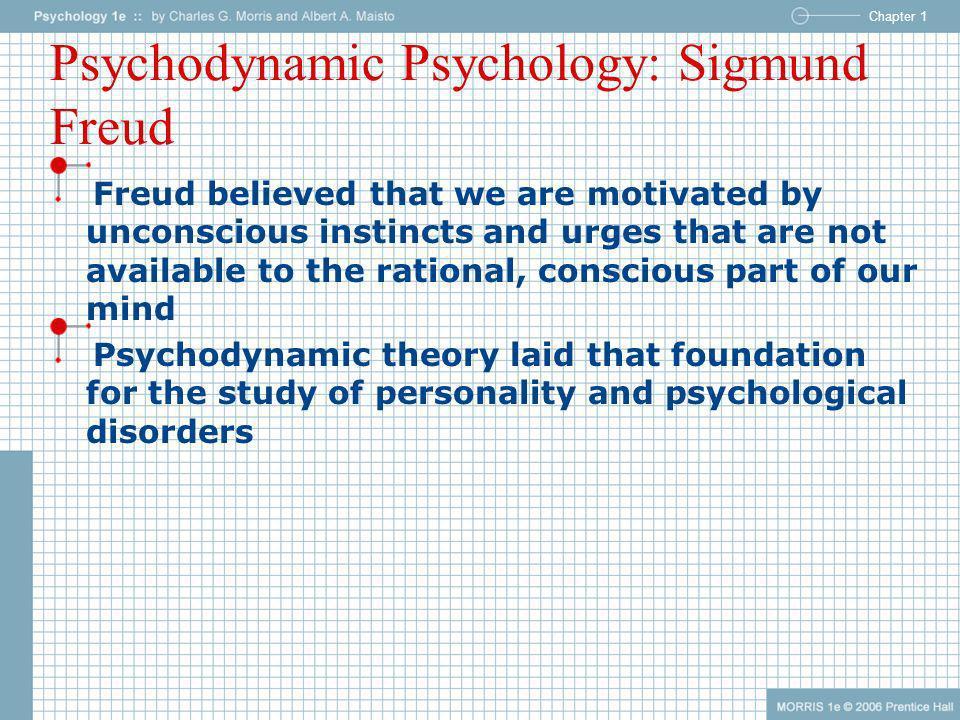 Psychodynamic Psychology: Sigmund Freud