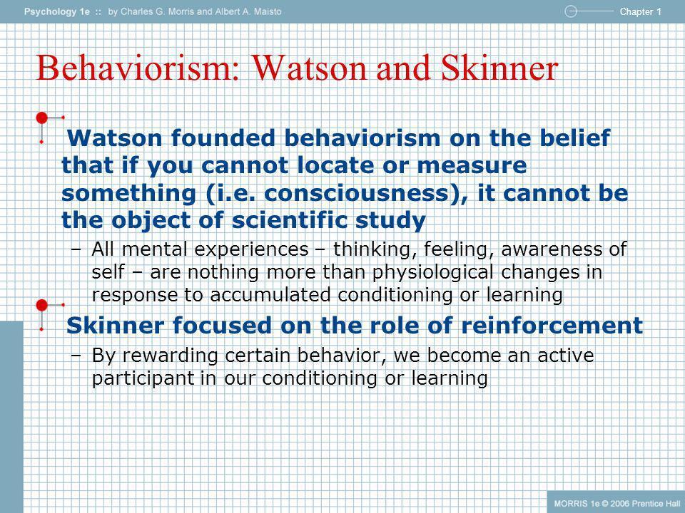 Behaviorism: Watson and Skinner