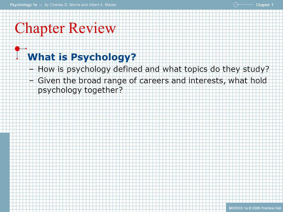 Chapter Review What is Psychology