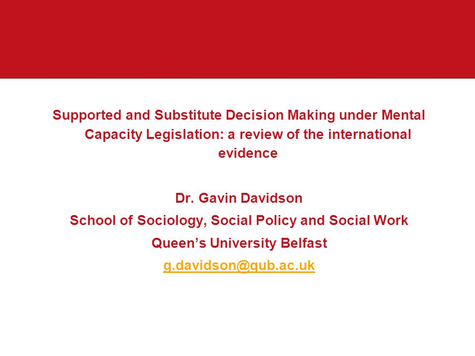 School of Sociology, Social Policy and Social Work