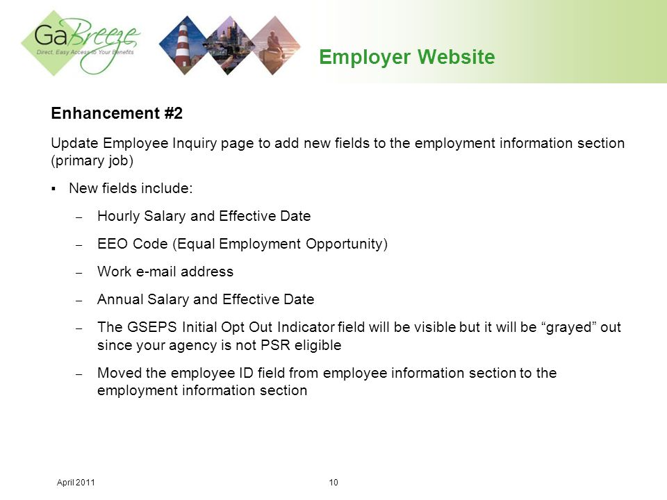 Employer Website Enhancement #2