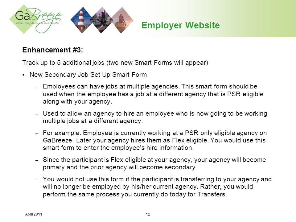 Employer Website Enhancement #3: