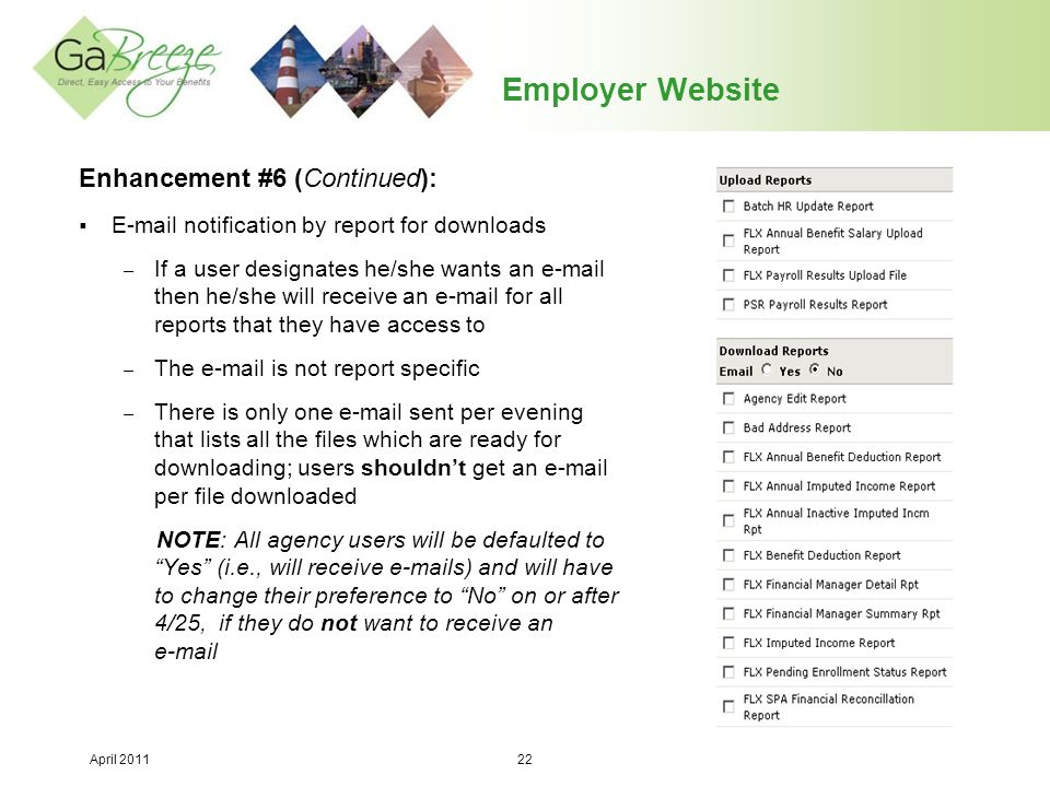 Employer Website Enhancement #6 (Continued):