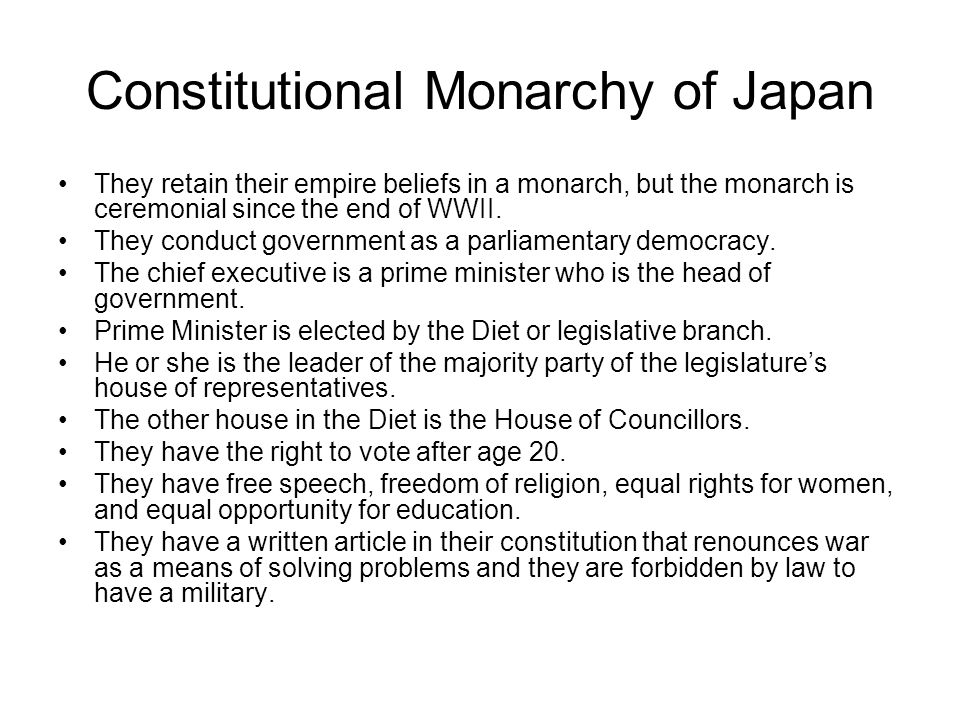 Constitutional Monarchy of Japan