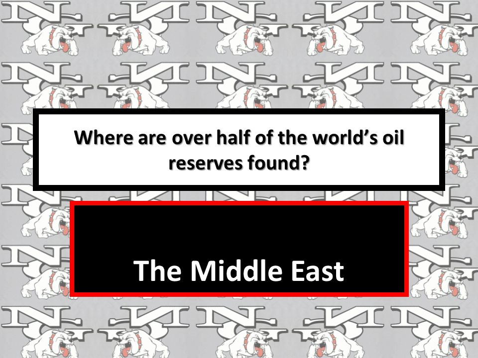 Where are over half of the world's oil reserves found