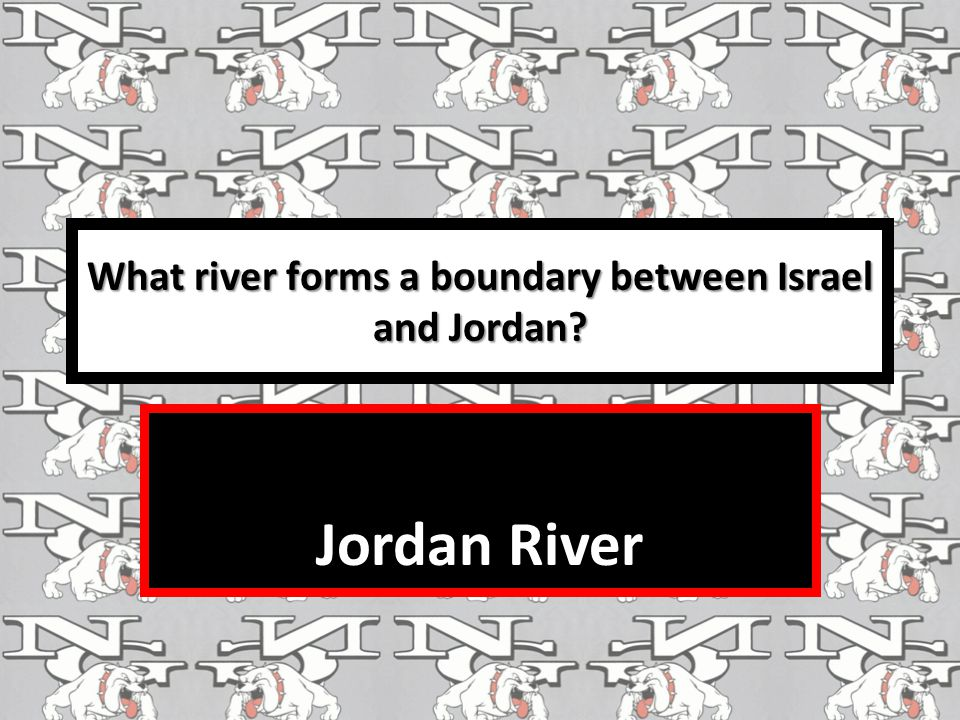 What river forms a boundary between Israel and Jordan