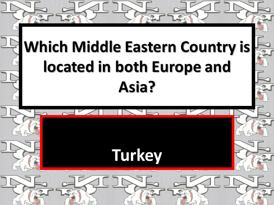 Which Middle Eastern Country is located in both Europe and Asia