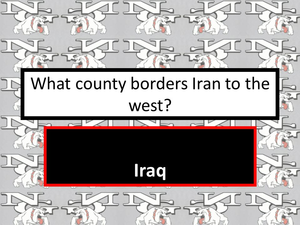 What county borders Iran to the west