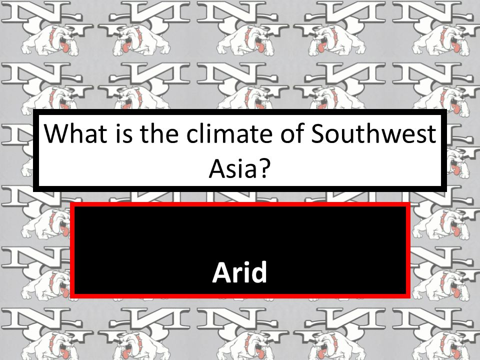 What is the climate of Southwest Asia