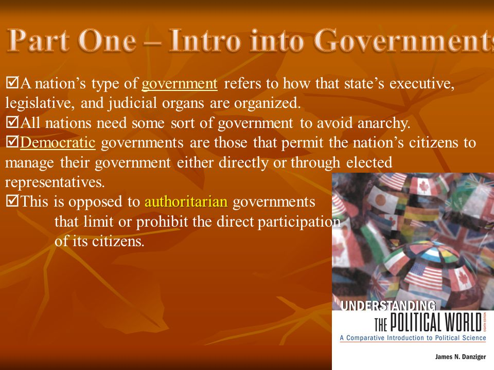 Part One – Intro into Governments