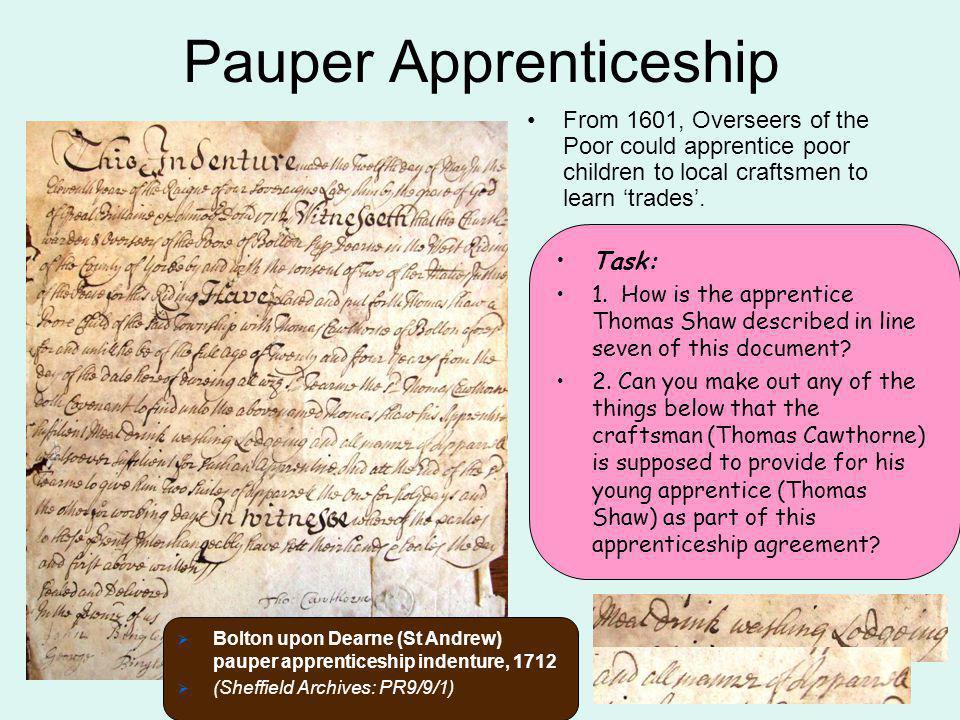 Pauper Apprenticeship