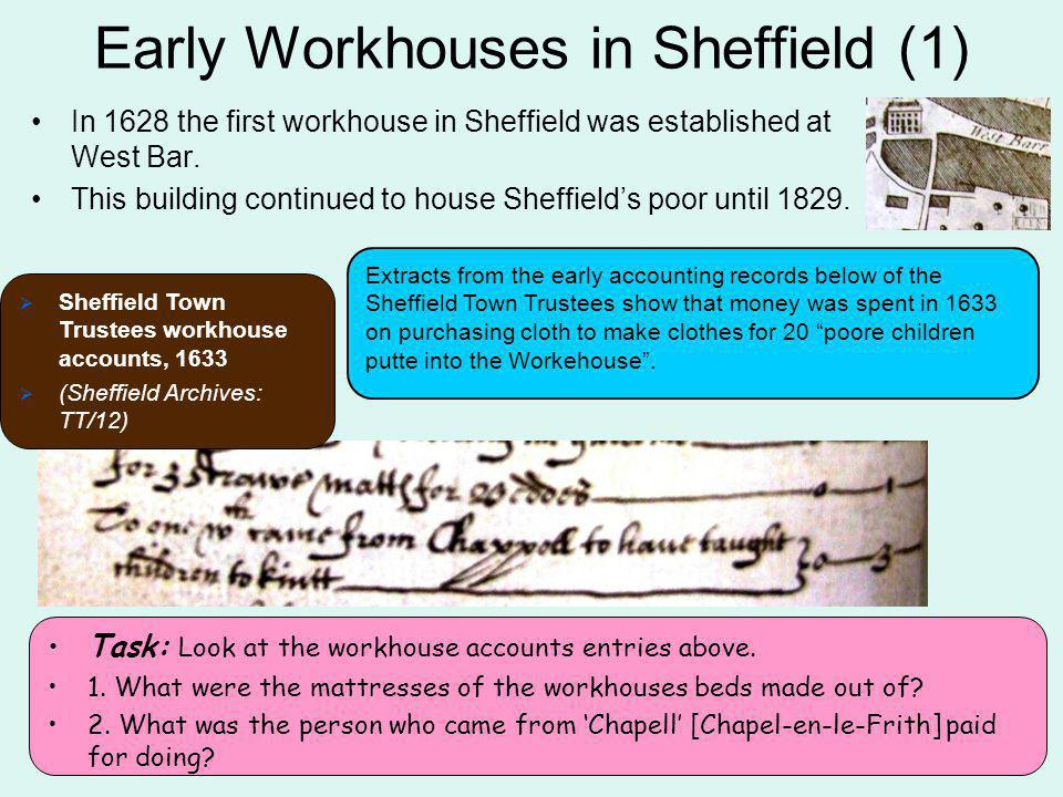 Early Workhouses in Sheffield (1)