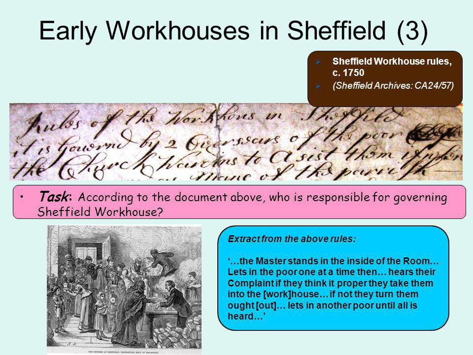 Early Workhouses in Sheffield (3)