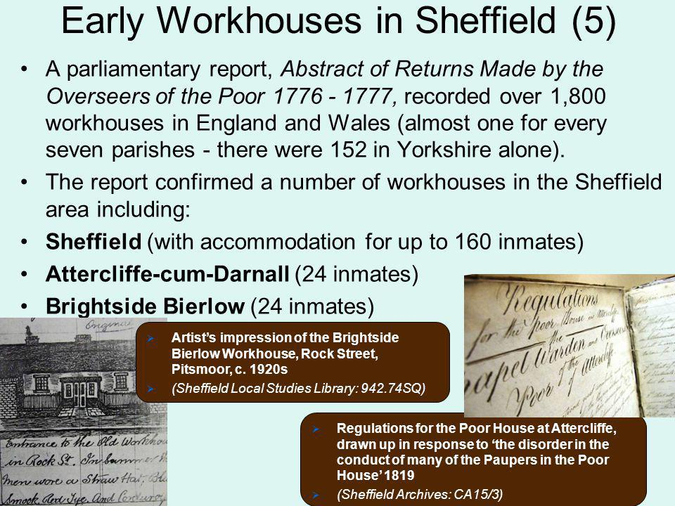 Early Workhouses in Sheffield (5)