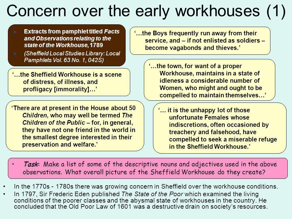 Concern over the early workhouses (1)