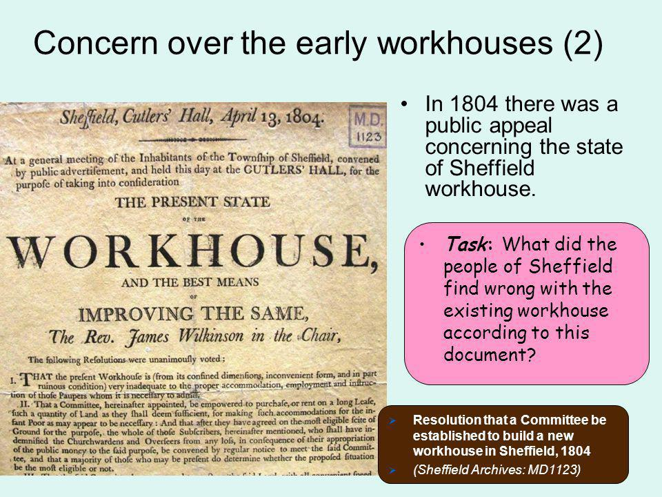 Concern over the early workhouses (2)