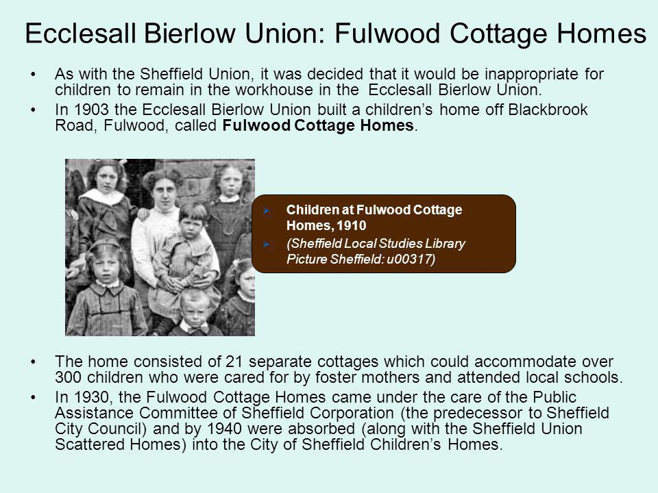 Ecclesall Bierlow Union: Fulwood Cottage Homes