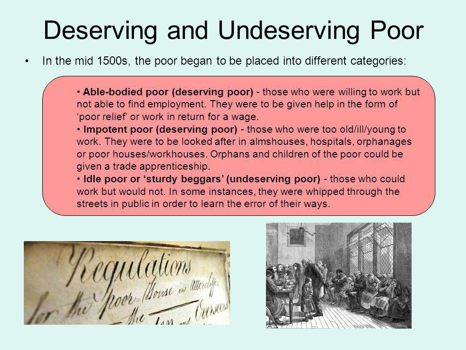 deserving and undeserving poor essay