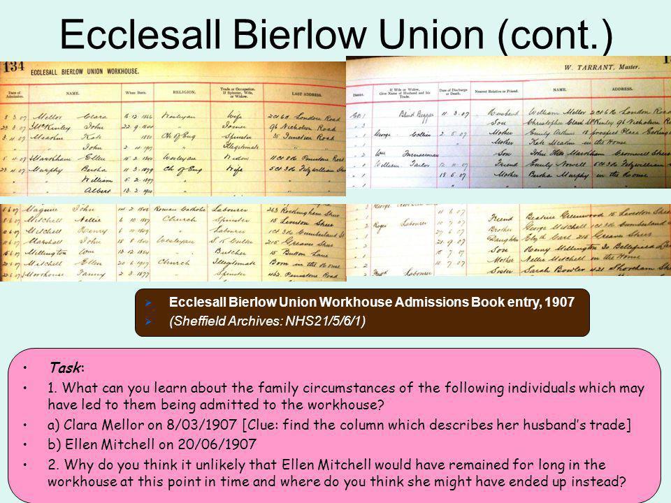 Ecclesall Bierlow Union (cont.)