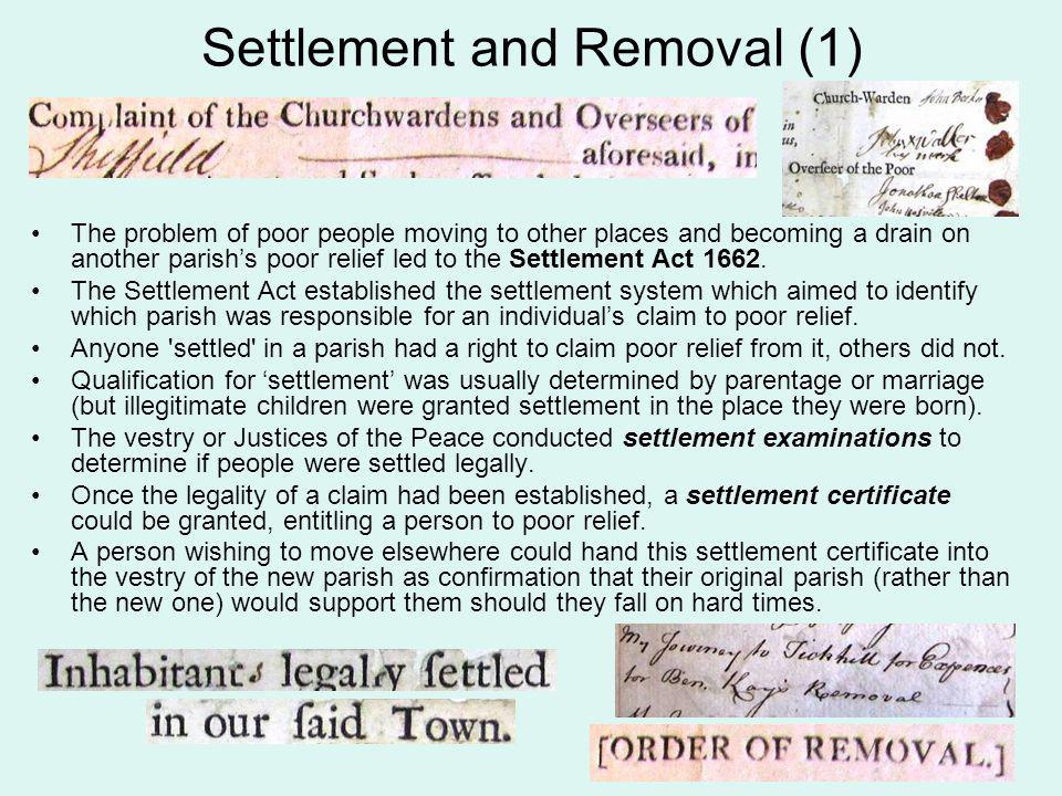 Settlement and Removal (1)
