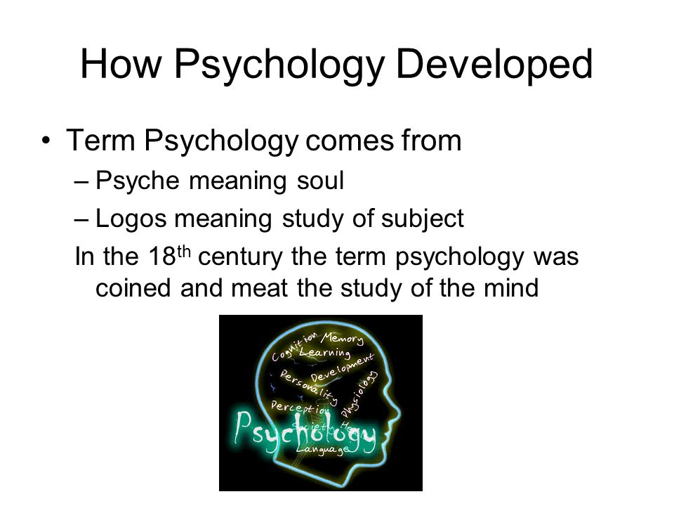 How Psychology Developed