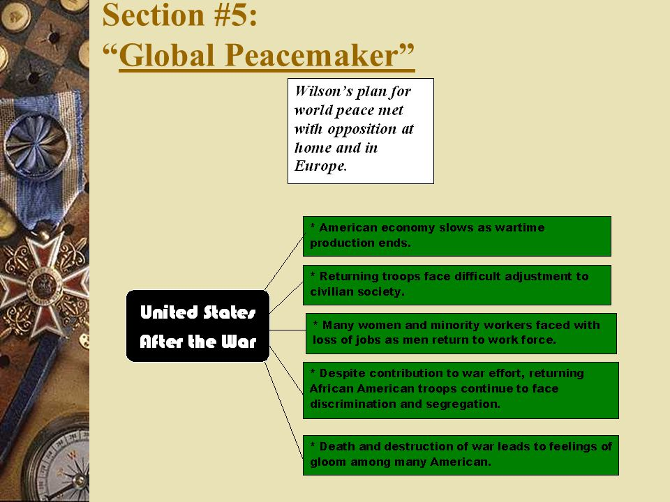 Section #5: Global Peacemaker