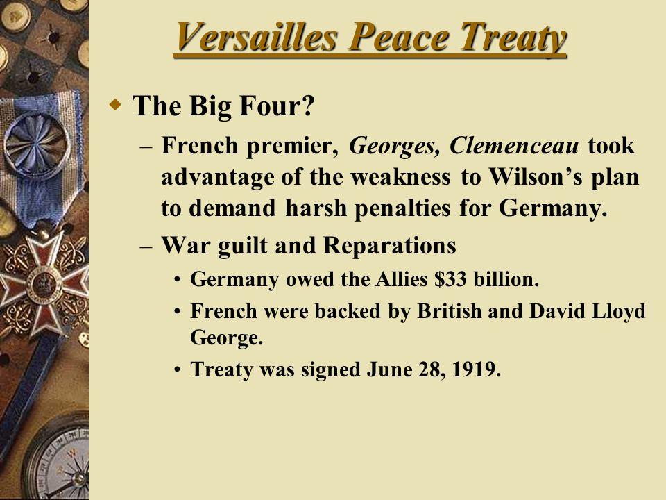 Versailles Peace Treaty