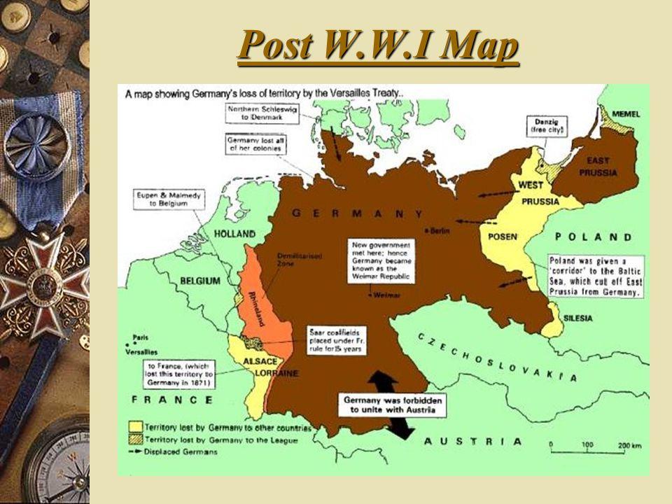 Post W.W.I Map