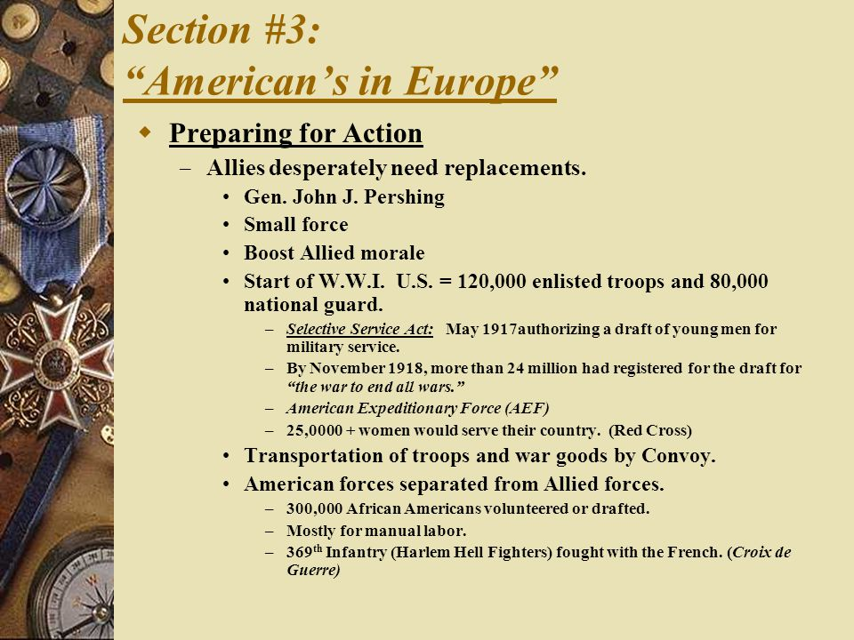 Section #3: American's in Europe