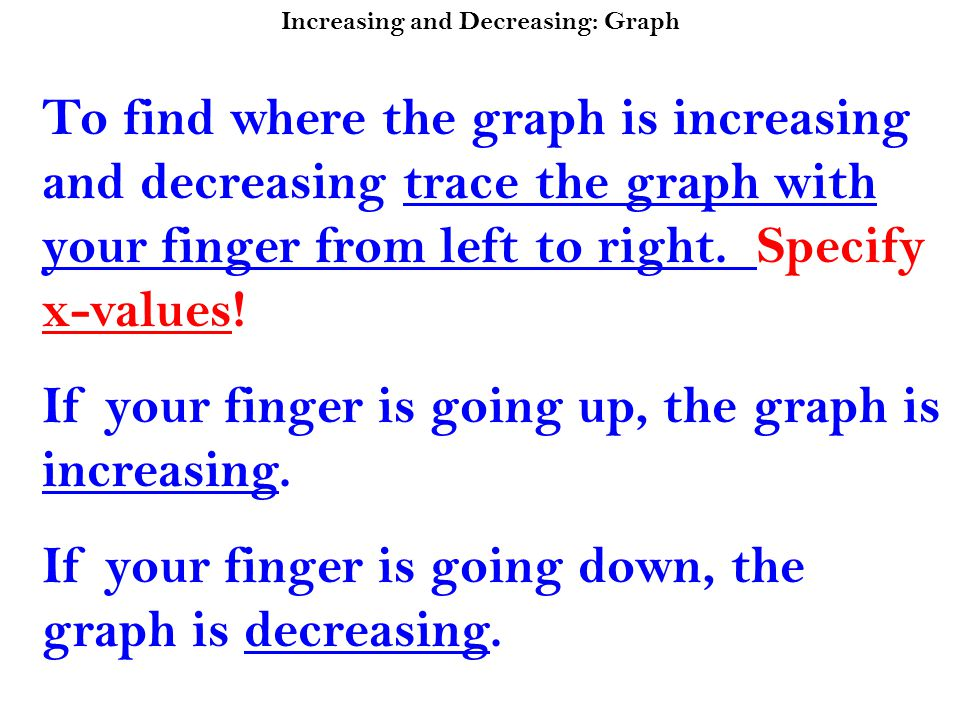 Increasing and Decreasing: Graph