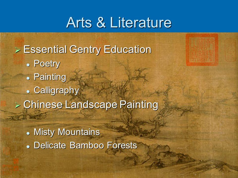 Arts & Literature Essential Gentry Education