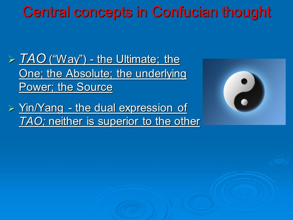 Central concepts in Confucian thought
