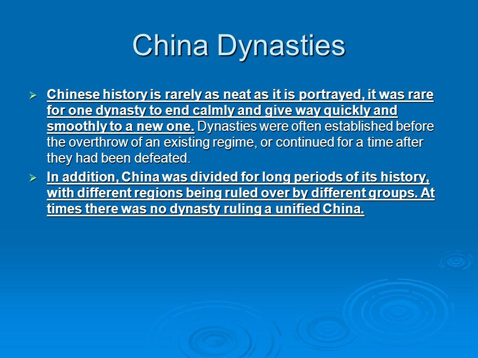 China Dynasties