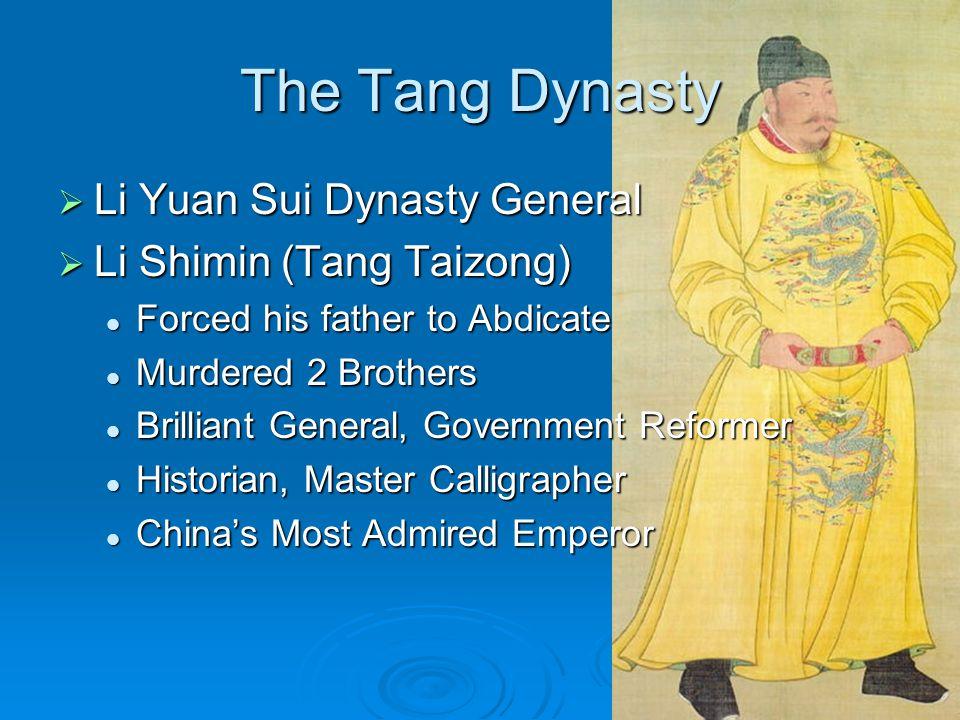 The Tang Dynasty Li Yuan Sui Dynasty General Li Shimin (Tang Taizong)