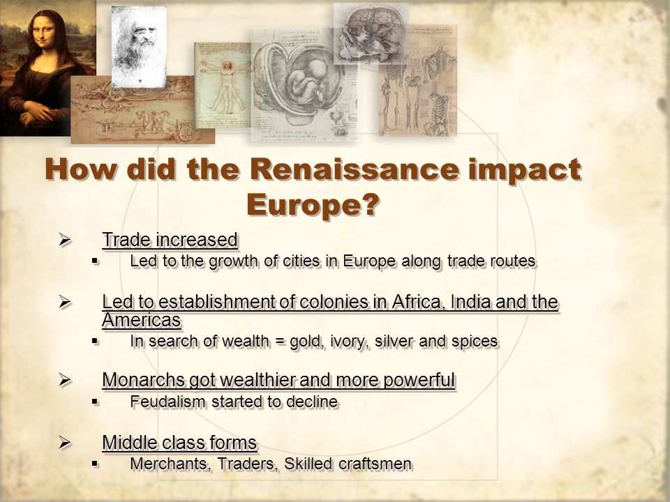 How did the Renaissance impact Europe