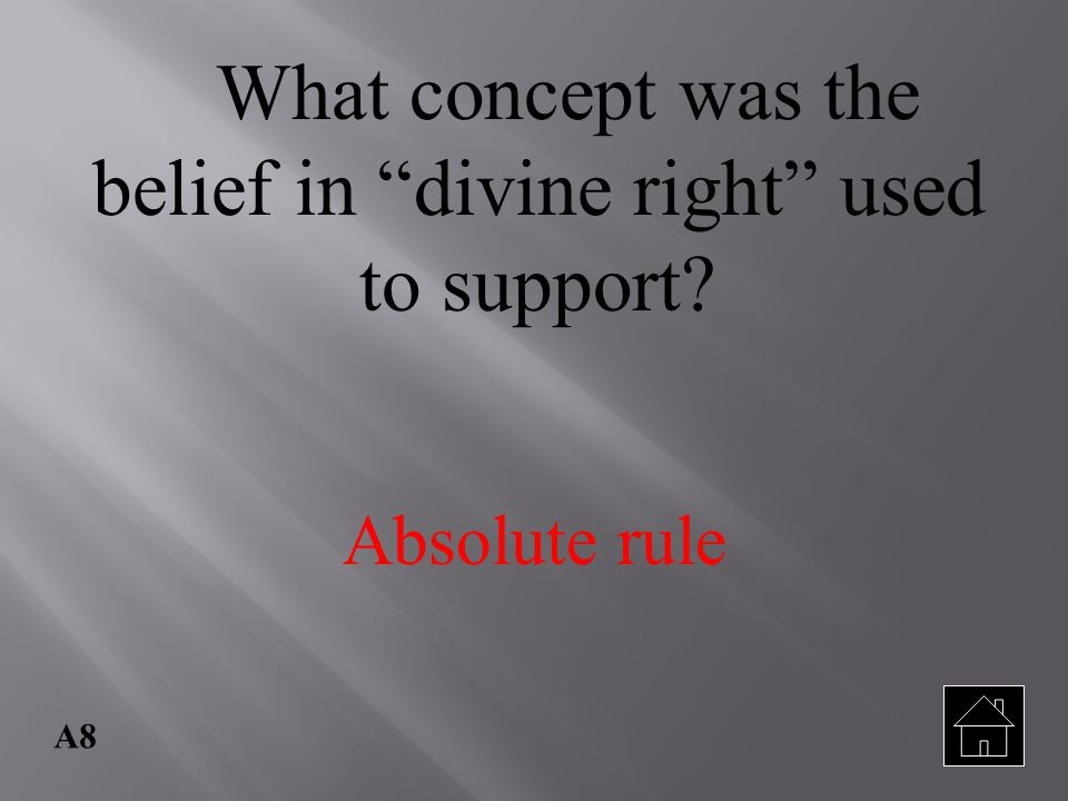 What concept was the belief in divine right used to support
