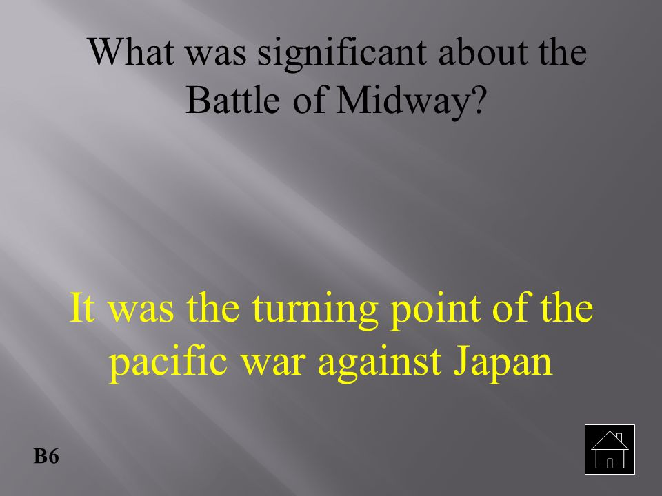 It was the turning point of the pacific war against Japan