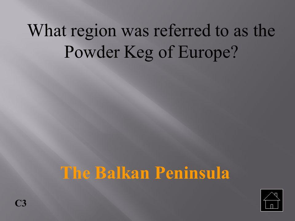 What region was referred to as the Powder Keg of Europe