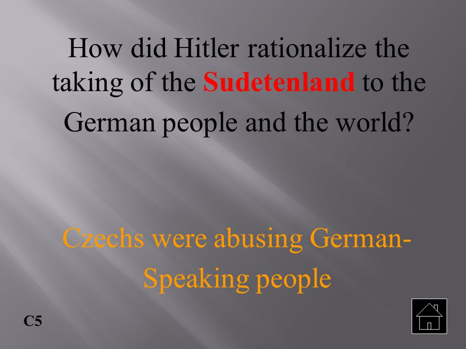 Czechs were abusing German-Speaking people
