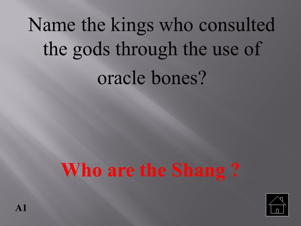 Name the kings who consulted the gods through the use of oracle bones
