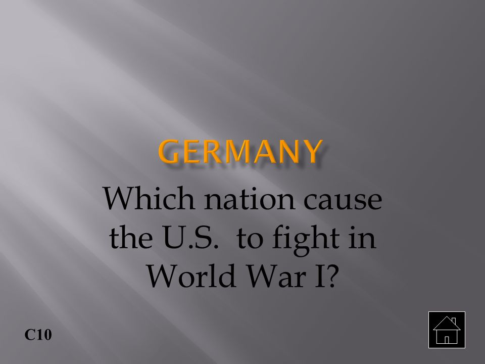 Which nation cause the U.S. to fight in World War I