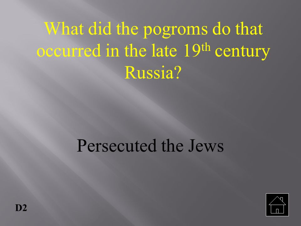 What did the pogroms do that occurred in the late 19th century Russia